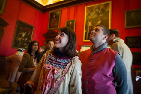 Visitors taking part in family activities at Kensington Palace