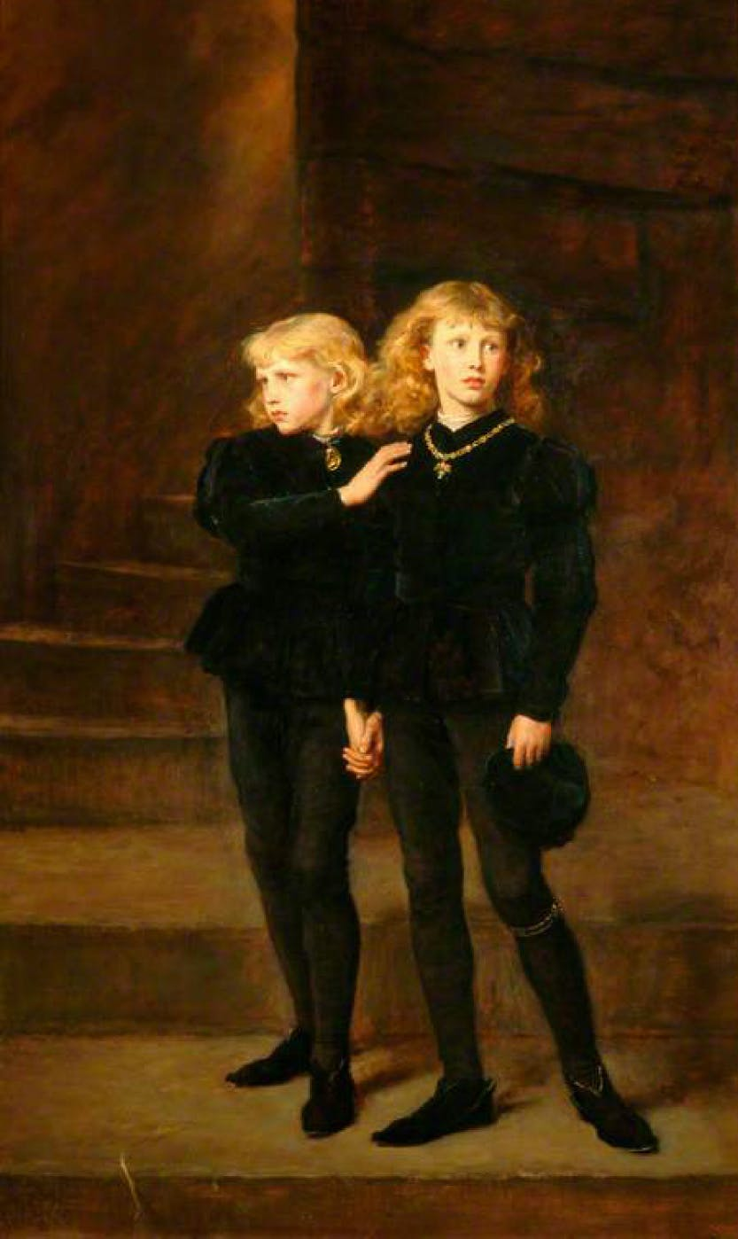 Portrait of the Two Princes in the Tower.