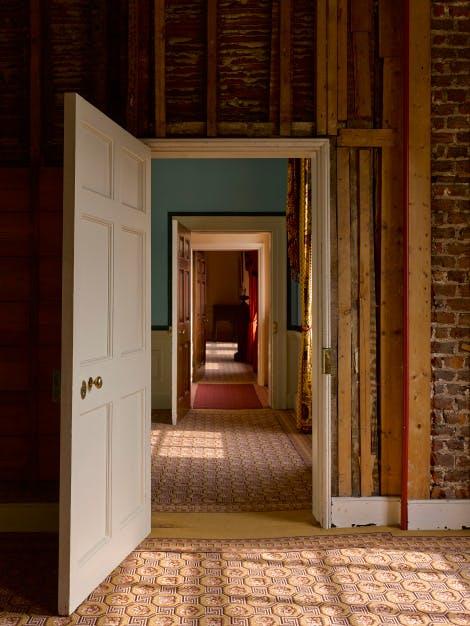 Princess Elizabeth's Bedroom. East elevation. View looking through a doorway