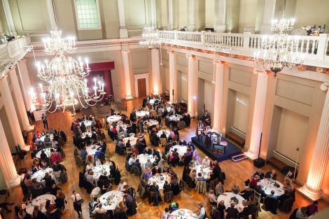 Wide shot of the Palace Pub Quiz at Banqueting Hall