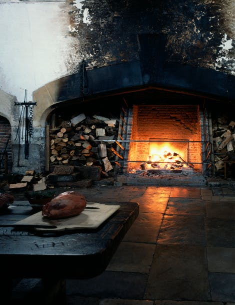 Photograph of the Tudor Kitchens owned by the Historic Royal Palaces Image Library