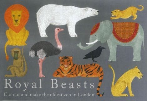 Cut out and make the oldest zoo in London. From lions to polar bears, meet the royal beasts of the Tower of London.