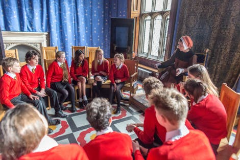 Secondary school students visit Hampton Court