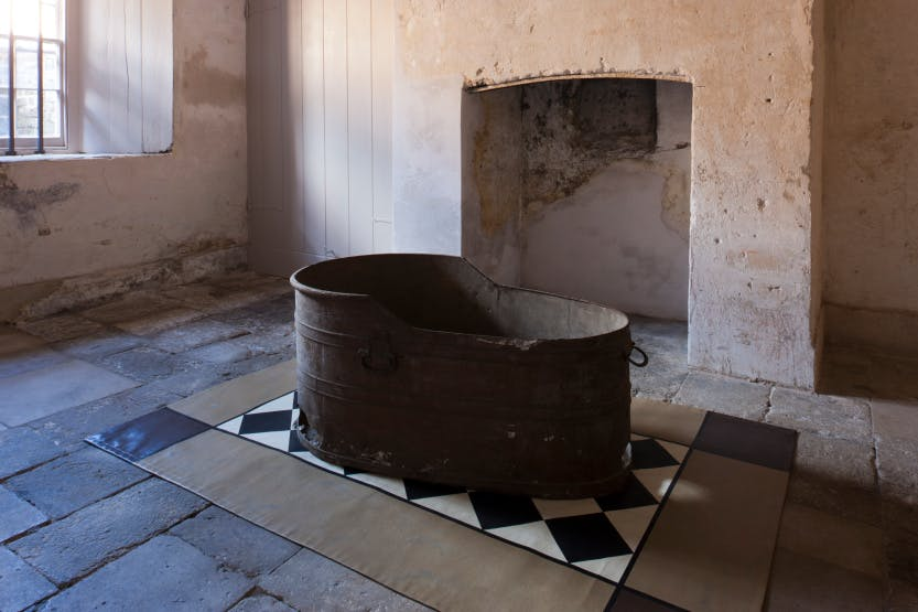 The Royal Kitchens. The Silver Scullery with King George III's tin bath