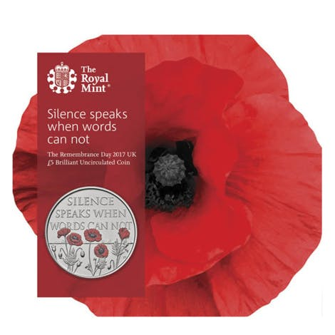 The Remembrance Day 2017 official coin
