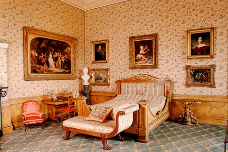 Queen Victoria's childhood bedroom at Kensington Palace.