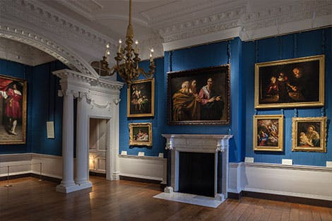 Interior of the Cumberland Art Gallery at Hampton Court Palace