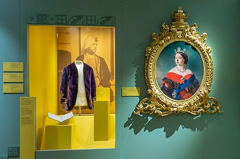 One of the rooms in the Victoria: Woman and Crown exhibition at Kensington Palace.