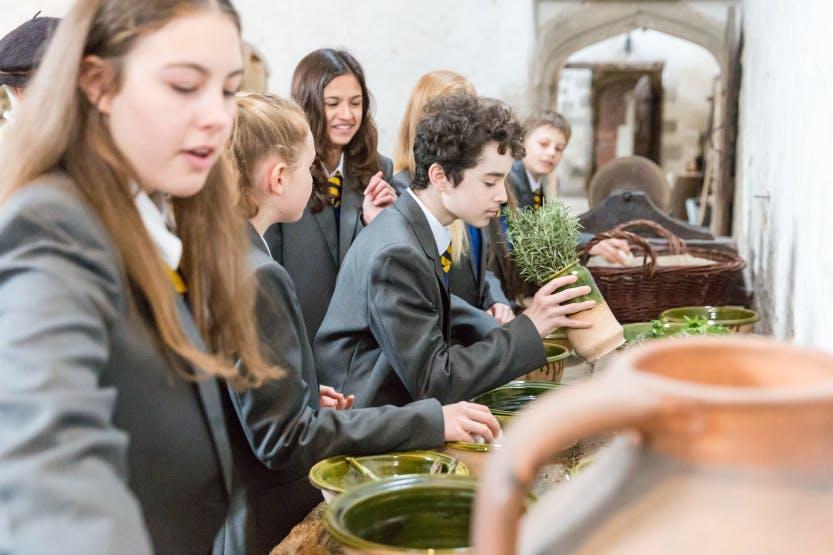 Secondary school students visit Hampton Court