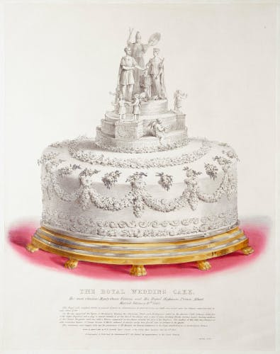 Image of one of Queen Victoria's wedding cakes