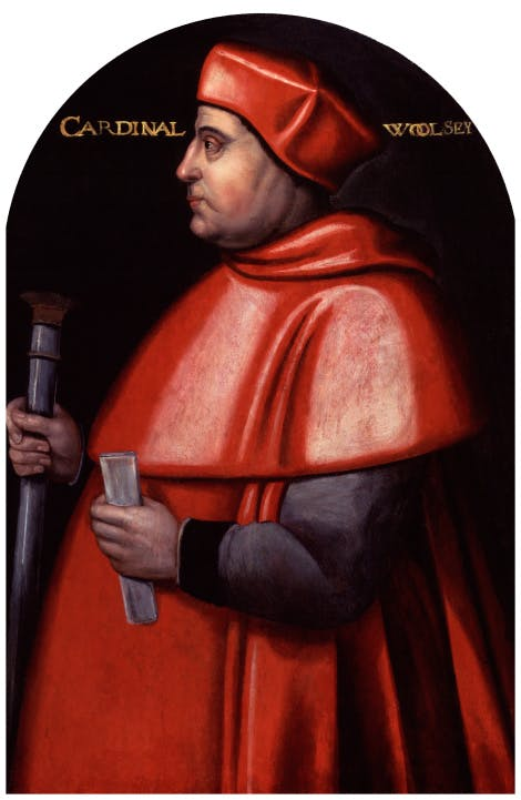 Thomas Wolsey, by Unknown artist, 1589-1595, based on a work of circa 1520 - NPG 32 - © National Portrait Gallery, London