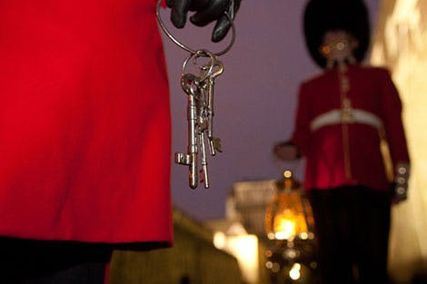 Chief Yeoman Warder carrying the Tower keys