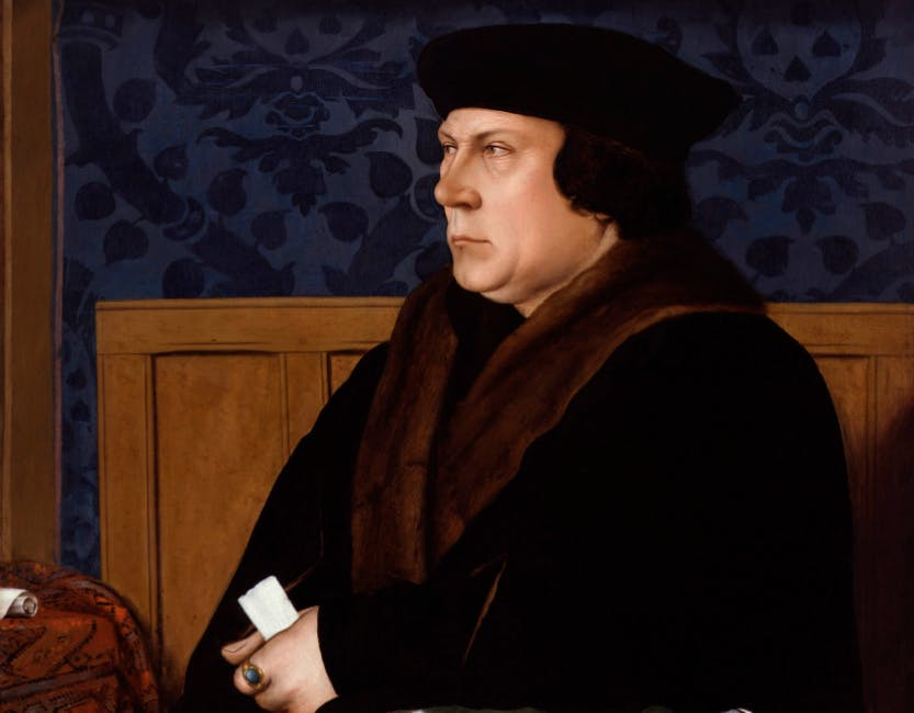 Painting of Thomas Cromwell, Earl of Essex by Hans Holbein the Younger.