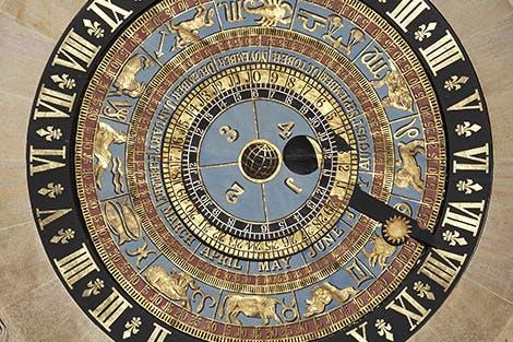 Detail of the Astronomical Clock at Hampton Court Palace