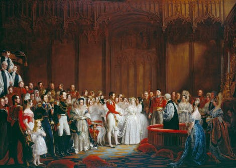 The Marriage of Queen Victoria, a painting by Sir George Hayter.