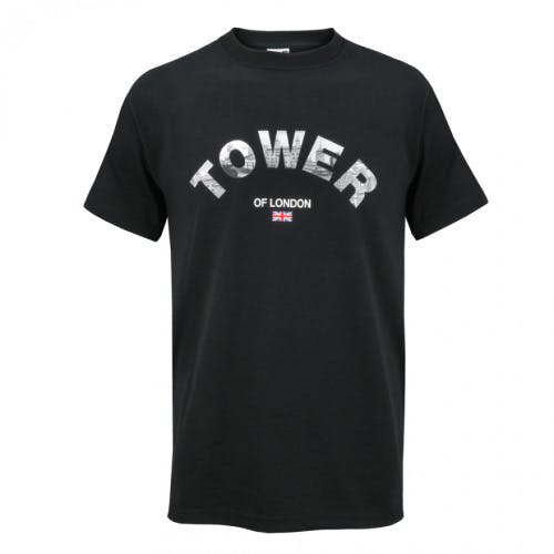 Tower of London letters black t-shirt, 100% cotton
