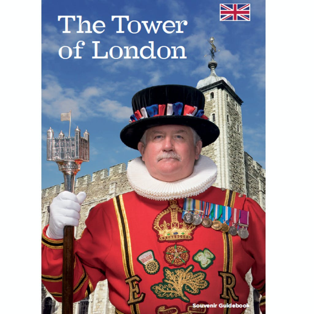 Front cover of the official Tower of London guidebook featuring Chief Yeoman Warder