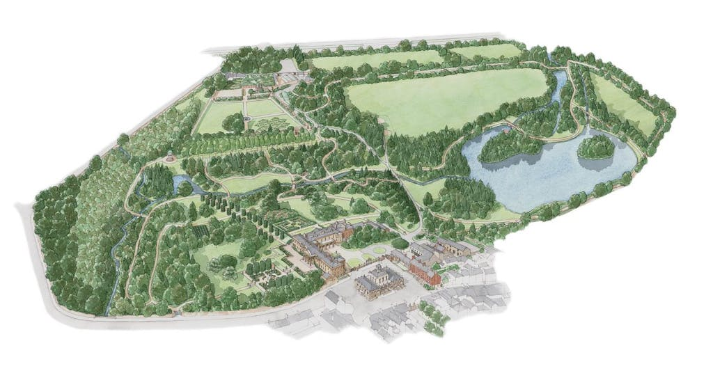 Illustrated map of Hillsborough Castle grounds