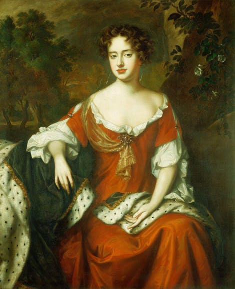 Portrait of Queen Anne when she was Princess of Denmark.