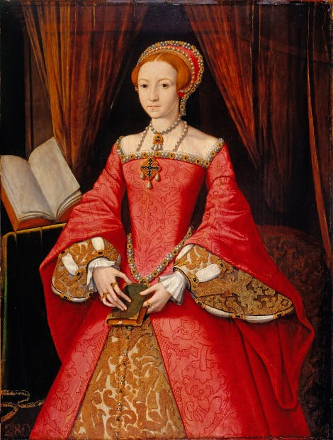 Portrait of Princess Elizabeth (I) Attributed to William Scrots