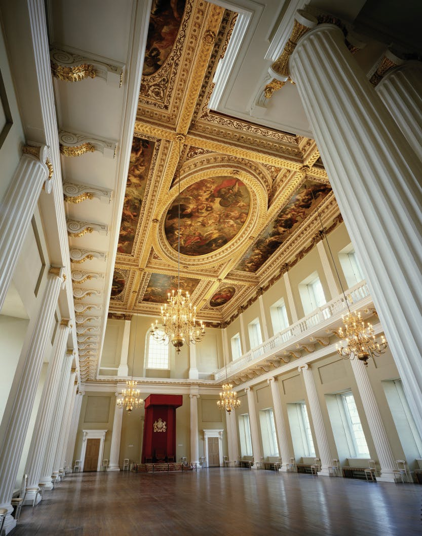 The Banqueting House. The main hall looking south west
