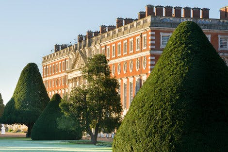 The East Front of Hampton Court Palace in winter.