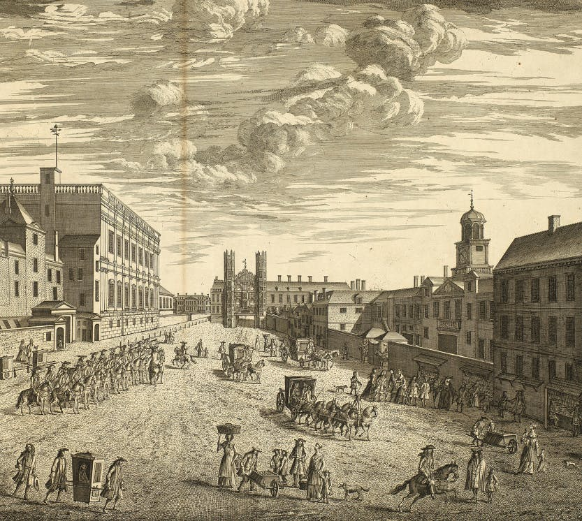 A landscape of Whitehall Palace