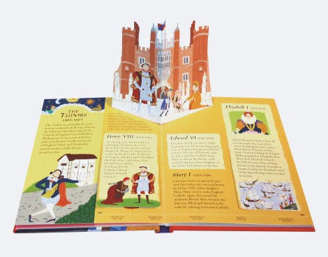 A fun-packed pop-up book, filled with flaps and fascinating facts about the most famous British kings and queens.