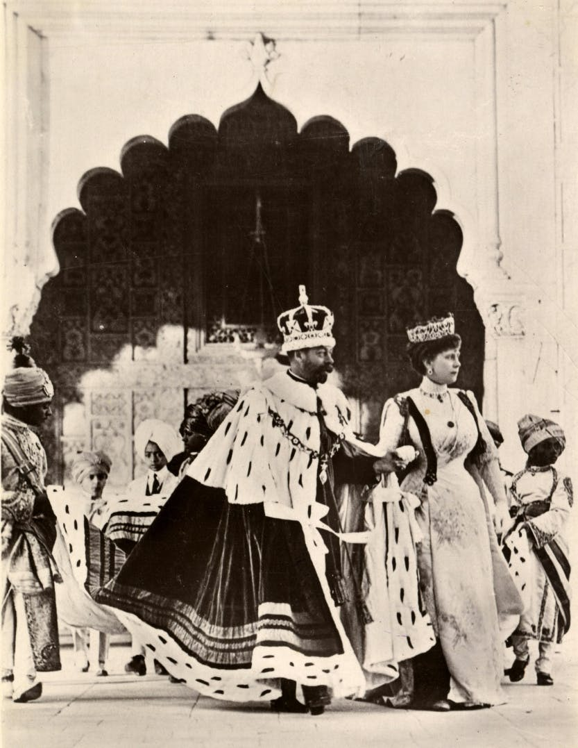 Image of King George V and Queen Mary, Coronation Durbar, Delhi 1911