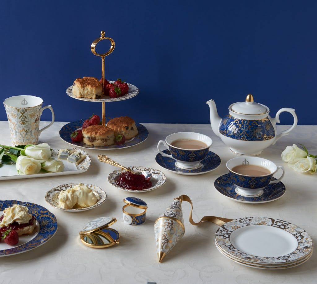 A selection of the Royal Victoria bone china range displayed in lifestyle setting