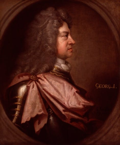 A portrait of King George I