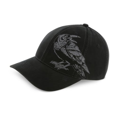 Tower of London raven black cap featuring iconic raven design.