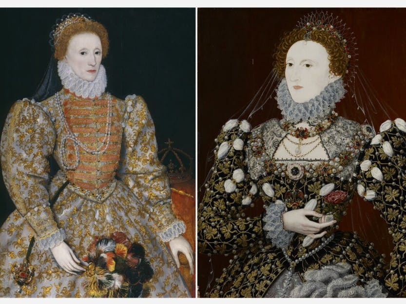 One of the most important surviving images of Elizabeth I, this portrait was almost certainly painted from life, and the resulting pattern for the queen's face was to be repeated for the remainder of her reign.