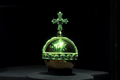 Orb from the Crown Jewels on a black background