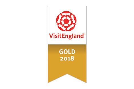 Gold logo for the Visit England quality assurance scheme