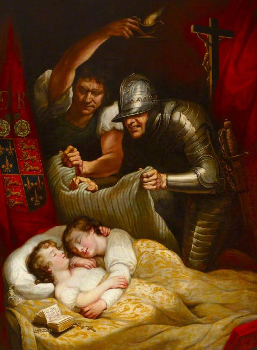 Painting of the murder of the Prince in the Tower.