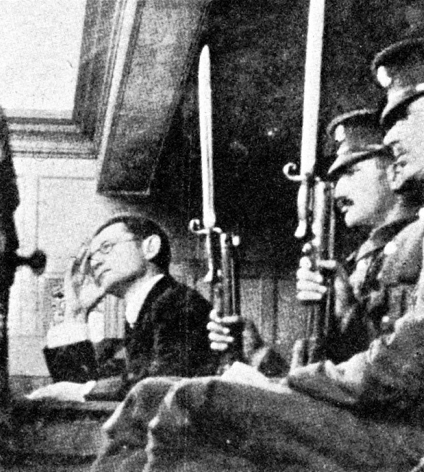 Lody on trial in a black and white photograph