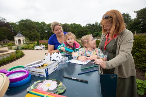 Family making activity at Hillsborough Castle and Gardens
