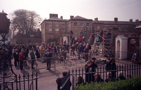Journalists at Hillsborough Castle