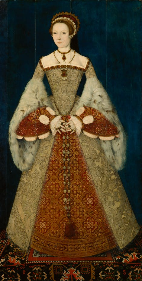 Katherine Parr, attributed to Master John, circa 1545 Purchased with help from the Gulbenkian Foundation, 1965, National Portrait Gallery, NPG 4451
