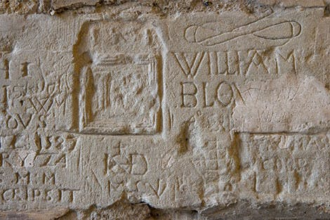 Prisoner inscriptions in the Salt Tower