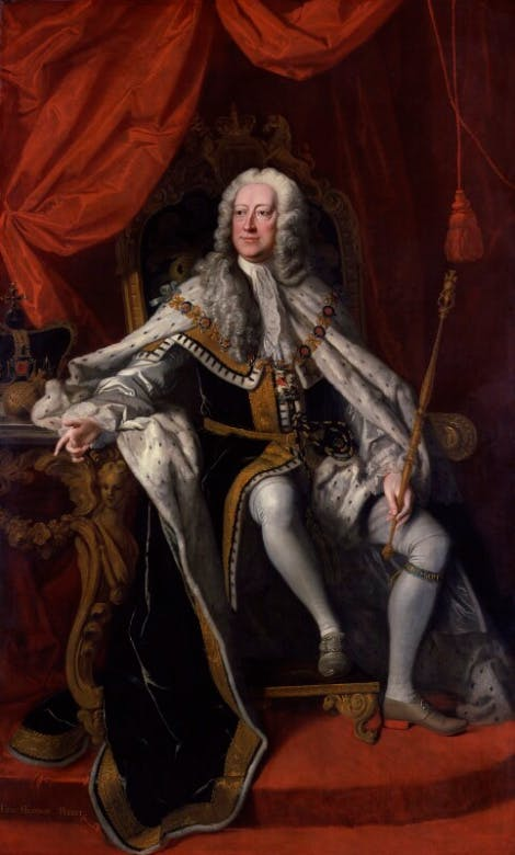 A portrait of King George II