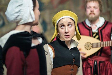 A palace interpreter in costume