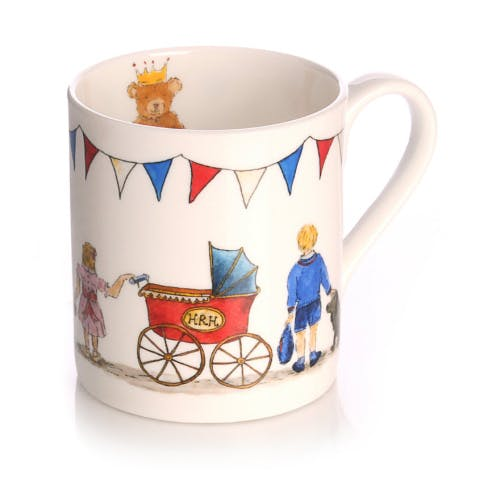 Celebrate the birth of the new royal baby on 23rd April 2018 with this beautifully illustrated commemorative Royal Baby 2018 fine bone china mug by popular British designer Milly Green. This limited edition royal baby design marks the birth of the Duke and Duchess of Cambridge's third baby and new arrival for the House of Windsor alongside siblings Prince George and Princess Charlotte.