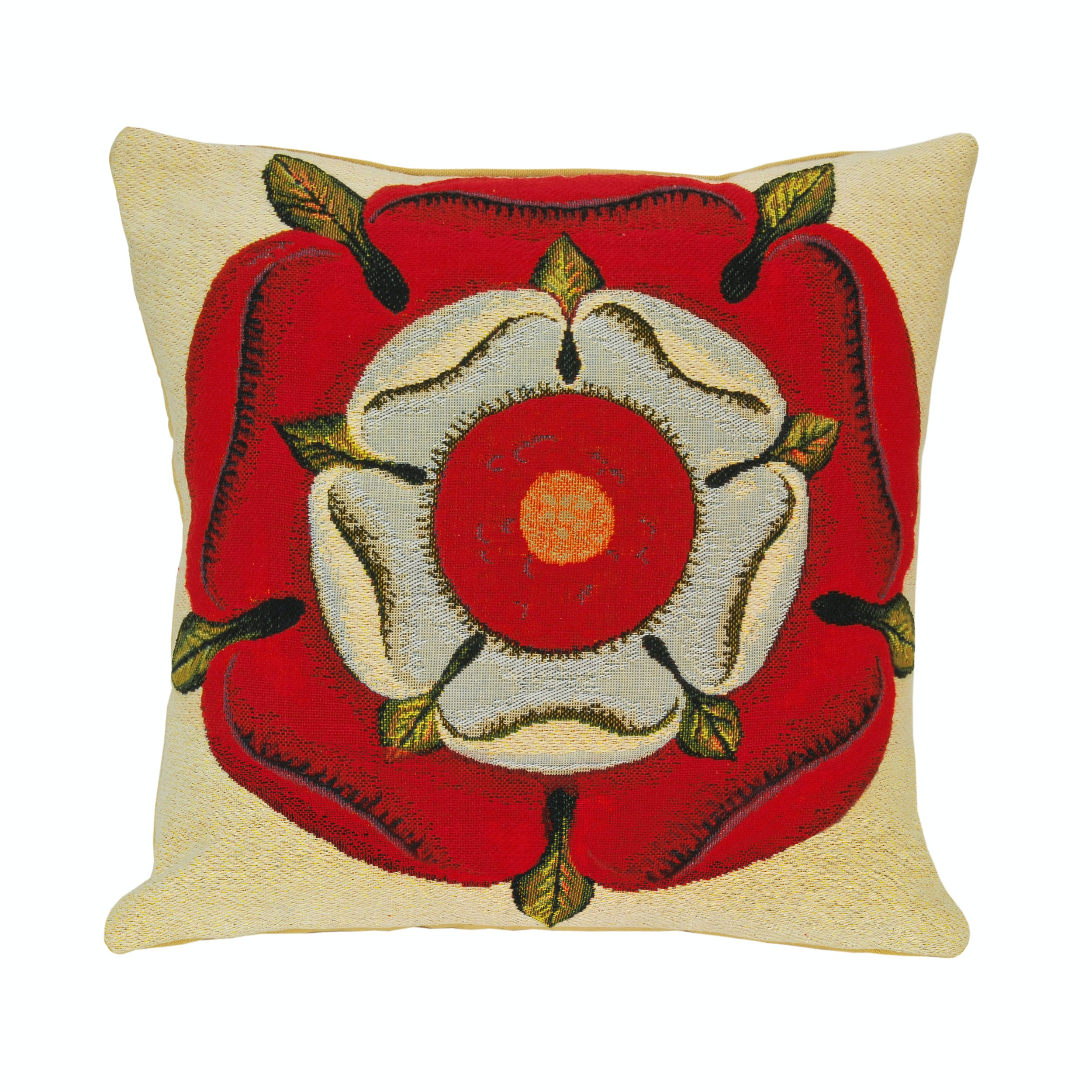 Tudor Rose Cushion - Perfect for a history lover, this Tudor rose cushion symbolises the joining of two rival houses, York and Lancaster.