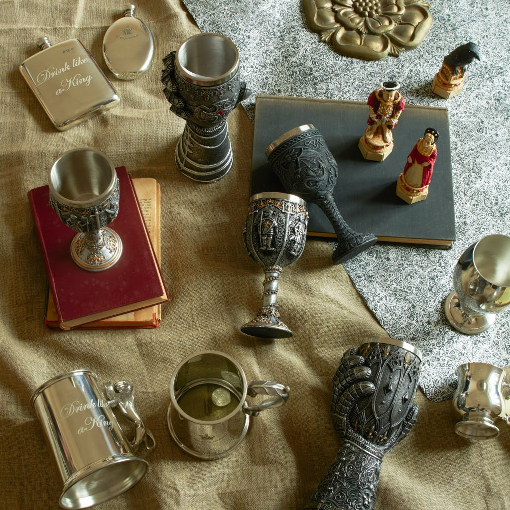 Tankard, flask and goblet gift selection from Historic Royal Palaces Shop.