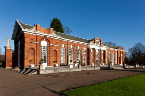 The Orangery was built for Queen Anne in 1704-5 and was used during the winter months for housing plants, and in the summer for court entertainments. The design of the building is attributed to Nicholas Hawksmoor and Sir John Vanbrugh.