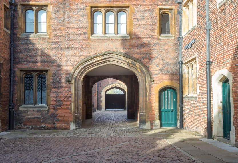Seymour Gate, looking west from Master Carpenter's Court.
