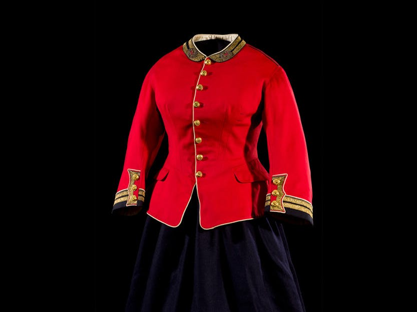 Queen Victoria's red military jacket.