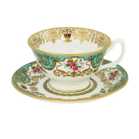 Royal Palace fine bone china teacup and saucer